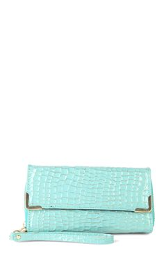 Deb Shops double zip wallet with croc design  $7.20