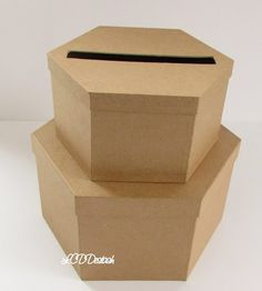 [[this one is already made, just have to decorate.]]DIY Wedding Card Box Unfinished