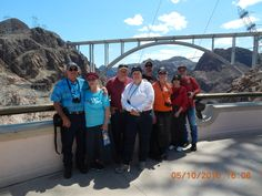 Group of friends went to see Hoover Dam in 2016