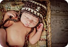 Newborn Photo Prop Baby Boy Football Hat via Etsy