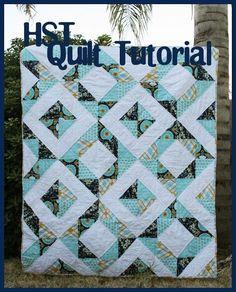 49 Super Ideas For Large Half Square Triangle Quilting Quilting Tips, Quilting Tutorials, Machine Quilting, Quilting Designs, Quilting Projects, Triangle Quilt Tutorials, Half Square Triangle Quilts Pattern, Half Square Triangles, Square Quilt