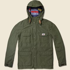 Penfield Kasson Hooded Mountain Parka - Olive