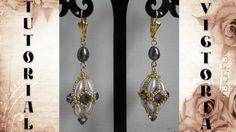 DIY - TUTORIAL Orecchini Victoria con rice beads, swarovski e rocailles #ricebeads #bicono #rocailles #earrings #beads