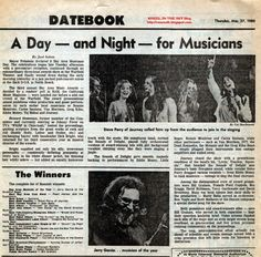WHEEL IN THE SKY: The Third Annual Bay Area Music Awards review from Thursday, March 27, 1980