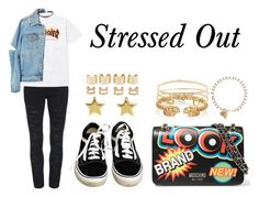 """""""Stressed Out"""" by anaelle2 ❤ liked on Polyvore featuring High Heels Suicide, Yves Saint Laurent, Vans, Moschino, SonyaRenée, Alexander McQueen, Hulchi Belluni, Isabel Marant, Maison Margiela and AlexanderMcQueen"""
