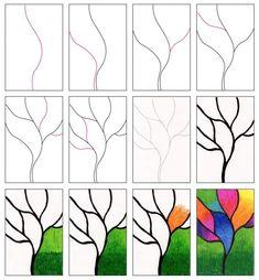 Blended Oil Pastel Tree · Art Projects for Kids art design landspacing to plant Oil Pastel Drawings Easy, Oil Pastel Paintings, Oil Pastel Art, Easy Drawings, Oil Pastels, Oil Pastel Crayons, Spring Art Projects, School Art Projects, Family Art Projects