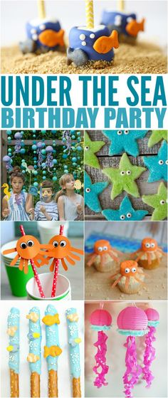 boy birthday parties How to Throw the Ultimate Under the Sea Birthday Party to please any birthday girl or boy for an amazing Under the Sea themed party! 1st Birthday Party Themes, Party Themes For Boys, 1st Boy Birthday, Boys Birthday Party Themes, Girl Themes, Birthday Nails, Mermaid Birthday, Bubble Guppies Birthday, Finding Nemo
