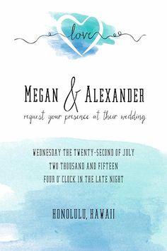 FREE wedding printable: Watercolor invitation by The Wedding Chicks | From #BridalGuide #WeddingPrintable