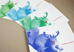 Super Squirrel Merry and Bright Holiday Cards Set of by FuzzyMug