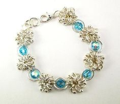 Jewelry: Sea Urchins Chain Maille...pretty pattern, looks easy to make!