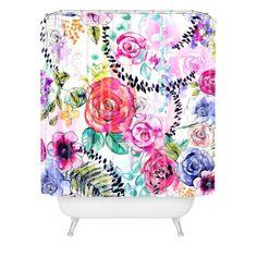 Holly Sharpe Rose Garden 01 Shower Curtain | DENY Designs Home Accessories