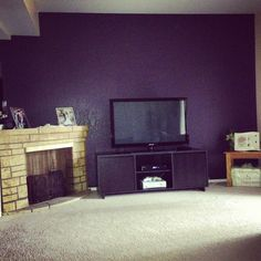 Valspar paint : purple fury /salon accent wall?