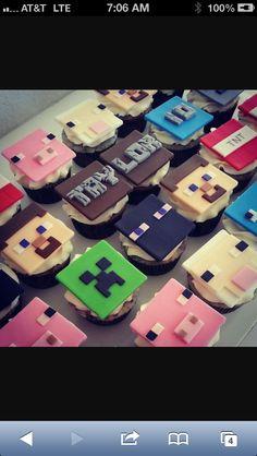 Minecraft cupcake topper ideas