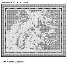 4 Cat Kitten Filet Crochet Doily