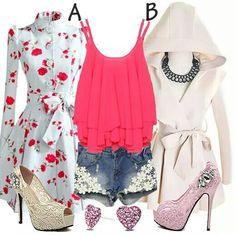 Pink, white and ivory <3
