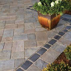 unilock courtstone | Concrete paver patio using Unilock's Richcliff pavers with Courtstone ...