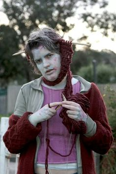Knitting Halloween fun  finally a zombie i can appreciate