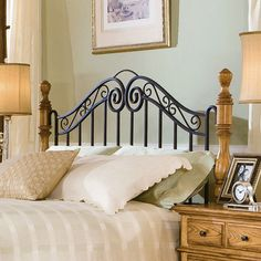 american harvest iron and wood headboard size fullqueen