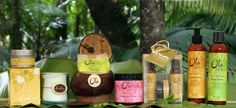 Ola Tropical Organics personal care line - any of their products that smell of passion fruit are my personal favorites.  I use the passion fruit salt scrub, lotion and mist.  Makes me feel like I'm really at home in Hawaii even if I'm far away.