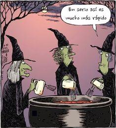 Brujas modernas →  #humor #humorgrafico #imagenesdivertidas
