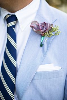 Simple Succulent Boutonniere