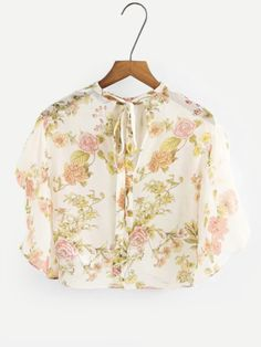 9c34d4c884cb2 Shop Tie Back Flutter Sleeve Chiffon Blouse online. SheIn offers Tie Back  Flutter Sleeve Chiffon Blouse   more to fit your fashionable needs.