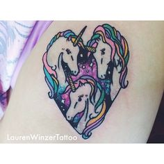 .@Lauren Davison Winzer | unicorn tattoo  Dream tattoo.  Would love tobget something like this. And yes I will proudly rock it when I'm 70 years old