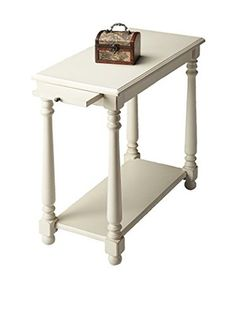 Butler Chairside Table, White