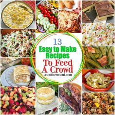 13 Easy To Make Recipes To Feed A Crowd for parties, potlucks, covered dish suppers and picnics. Easy To Make Appetizers, Easy Food To Make, Appetizer Recipes, Cooking For A Crowd, Food For A Crowd, Paula Deen, Food Network, Best Tuna Salad, Avocado Salad