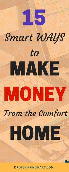 Interested in making money online? Here are 15 creative ideas to make money from home, this side hustle can be perfect for anyone tired with nine to five jobs or for home staying moms. Check it out