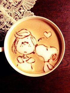 Snoopy and Peppermint Patty - coffee