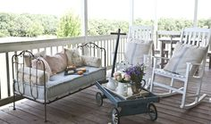 I love entertaining on the back porch. Thanks to @birchlane for helping me to do it right. #entertainwithbirchlane