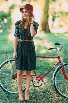fall fashion ideas - anthropologie dress + hat