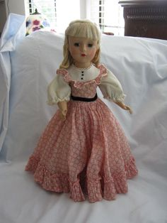 "1950's Madame Alexander 14"" Little Women Amy Doll Loop Curls - All Original #1950sMadameAlexanderAmyDoll #Dolls"
