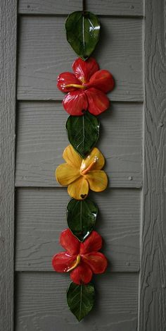 Hibiscus Lei by OZARTCOLLECTION on Etsy