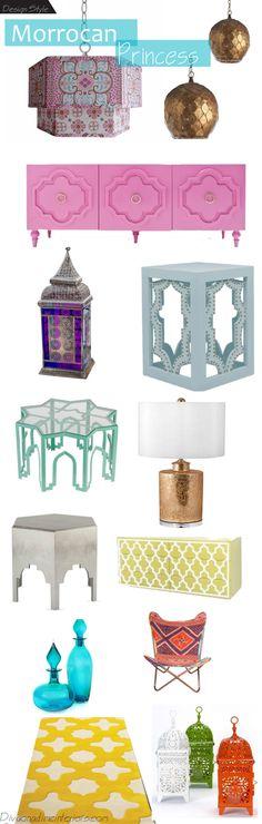 růžový dekor   morrocan princess by awesome design blog: diva on a dime interiors