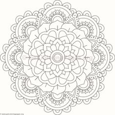Flower Mandala Coloring Pages #74
