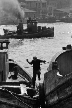 Magnum Photos- Ara Guler TURKEY. Istanbul. The shipping yards with freight boats on the Golden Horn. 1960.