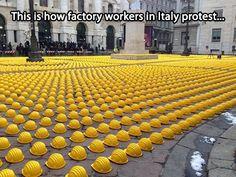 Amazing way to protest…