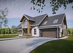 Herbert - murowana – beton komórkowy - zdjęcie 1 Modern Architecture House, Design Case, Home Fashion, Exterior Design, Planer, House Plans, Sweet Home, House Design, Villa