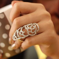 2016 Fashion Bague Hollow Rose Knuckle Finger Joint Rings Punk New Brand Jewellery Bijoux Joint Ring Set For Women Cheap Rings, Rings Cool, Pretty Rings, Fashion Rings, Fashion Jewelry, Fashion Accessories, Armor Ring, Nail Ring, Ring Ring