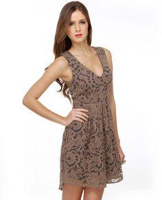 Brown Lace Dresses