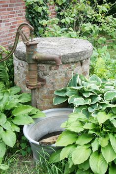 Lovely pump use the pump we have in my secret garden with the hostas
