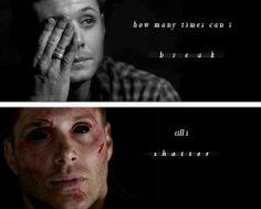 (gif set) ♪How many times can I break 'till I shatter?♪     Dean Winchester / Demon!Dean [Shattered - Of a Revolution]