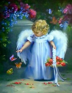 Blue Wings Angel baby Angel with blue Wings Baby Engel, I Believe In Angels, Angel Pictures, Angels Among Us, Angels In Heaven, Guardian Angels, Angel Art, Beautiful Pictures, Fairy