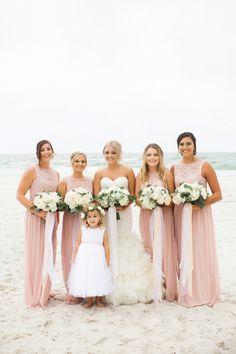 Blush bridesmaid dre