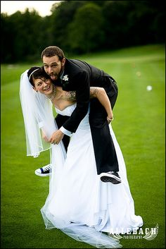 Chelley & Dave Punk Rock Wedding-29 by Allebach Photography, via Flickr