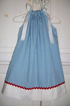 Pillowcase Dress DOROTHY Blue Gingham Wizard of Oz Party baby toddler girl