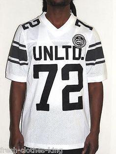 a50d793f0647e Ecko Unlimited Shirt New  68 Mens White Varsity Football Jersey Choose Size