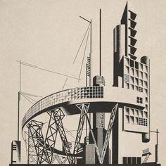 Architectural compositions by Iakov Chernikhov, 1924-1931
